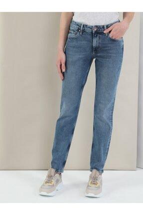 Colin's Slim Fit Tapered Paça Yüksek Bel 891 Maya Kadın Jean Pantolon