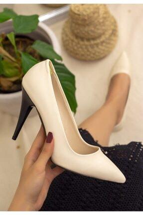 Erbilden Kadın Ten Cilt Stiletto Ayakkabı