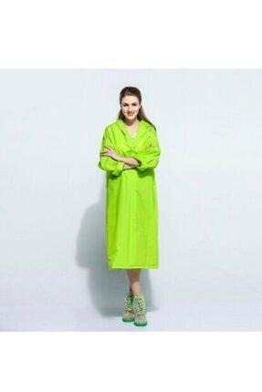 Marlux Kadın  Yeşil Su Geçirmez Eva Kumaş Kıyafetüstü Yağmurluk