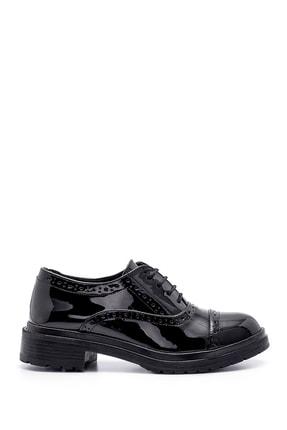 Derimod Kadın Siyah Rugan Casual Ayakkabı