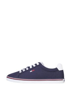 Tommy Hilfiger Kadın Mavi Sneaker Essentıal Lace Up Sneaker EN0EN00786
