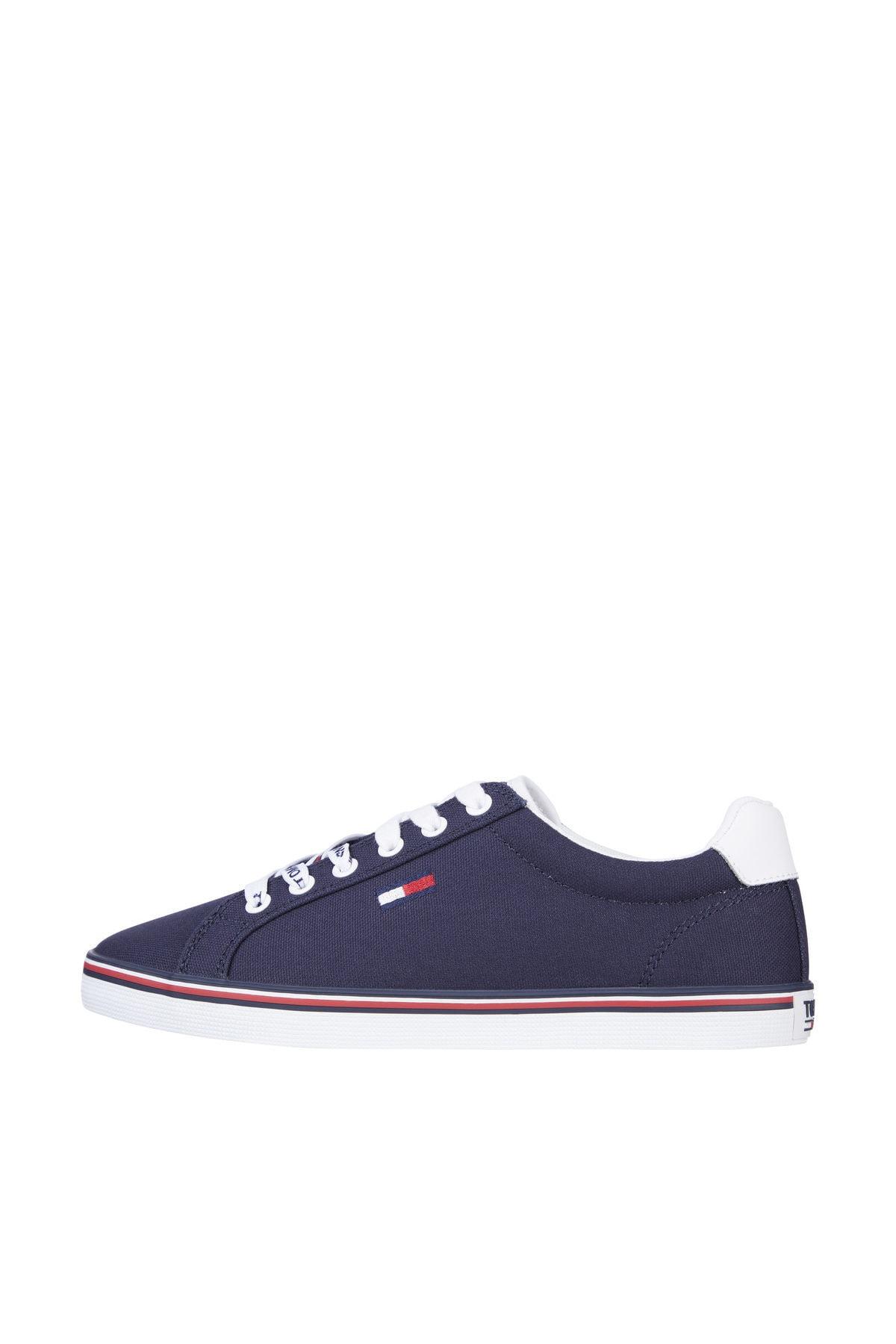 Tommy Hilfiger Kadın Mavi Sneaker Essentıal Lace Up Sneaker EN0EN00786 1