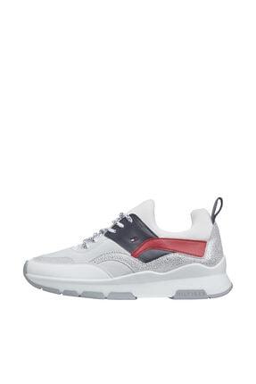 Tommy Hilfiger Kadın Kırmızı Sneaker Sporty Chunky Glıtter Sneaker FW0FW04853