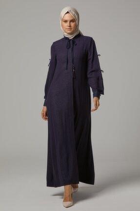 Doque Kadın Mavi Tam Boy Pardesü Do-b9-65011-74