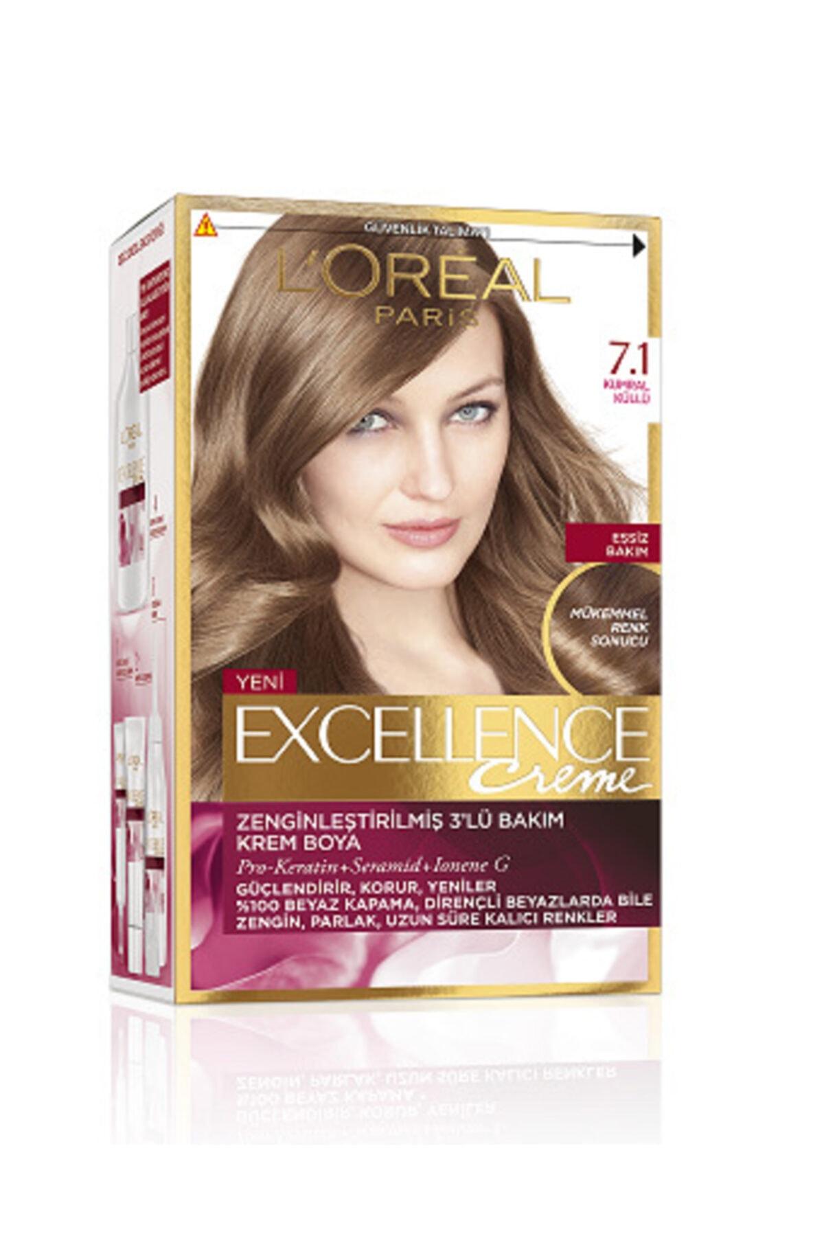 L'Oreal Paris Excellence Creme Saç Boyası 7.1 Kumral Küllü 1