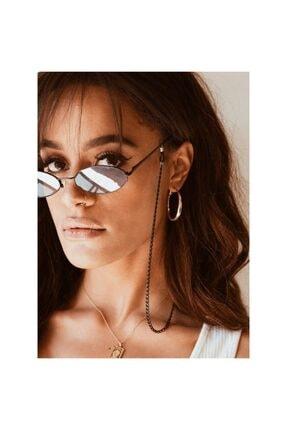 Marbling Siyah Gözlük Zincir Aksesuar