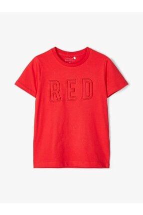 name ıt Unisex Kırmızı İşlemeli Tişört