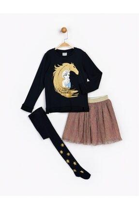 Frozen Kız Çocuk Lacivert Takım Ve Külotlu Çorap 16275