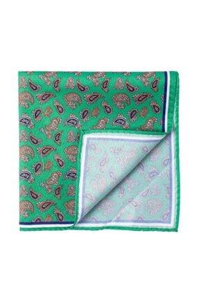 Tudors Erkek Yeşil Desenli Mendil Pocket Square