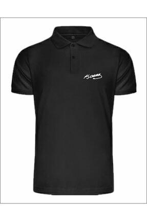 Jan Mayen Erkek Atatürk Imzalı Polo Yaka Siyah T-shirt
