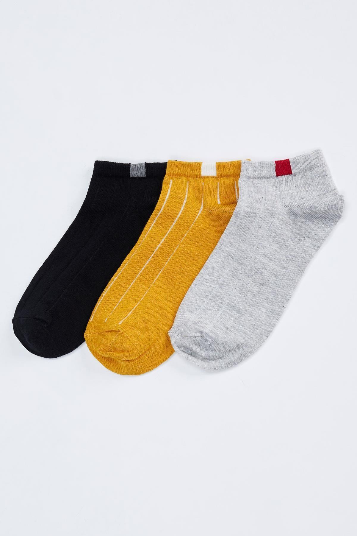 DeFacto Kadın D.Yellow Patik Çorap 3'Lü R8333AZ20AU