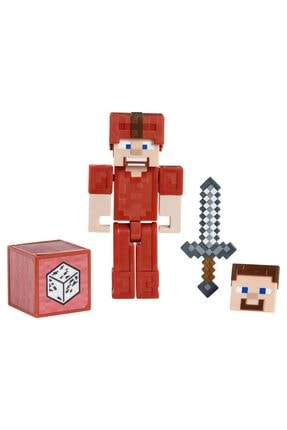 MINECRAFT Aksesuarlı Steve In Red Leather Figürler Serisi Gcc11