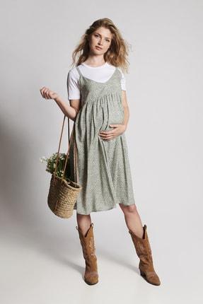 LYN MAMA Hamile Alice Elbise - Yeşil