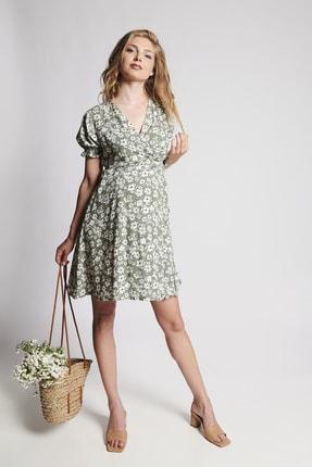 LYN MAMA Hamile Jenny Elbise - Yeşil