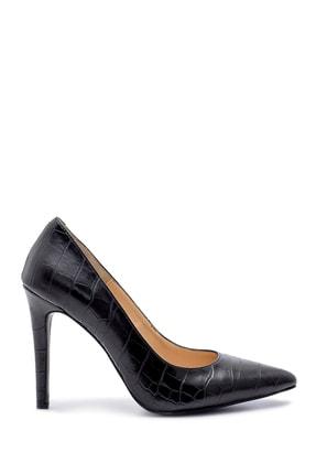 Derimod Kadın Siyah Kroko Desen Stiletto