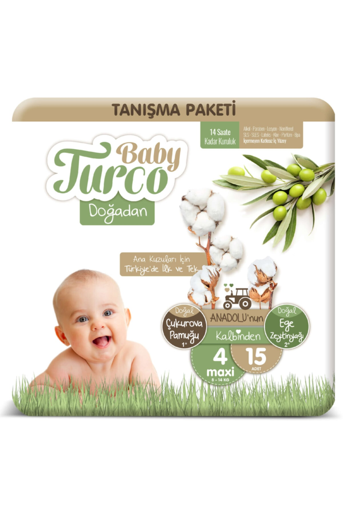 Baby Turco Doğadan 4 Numara Maxi Tanışma Paketi 15 Adet 1