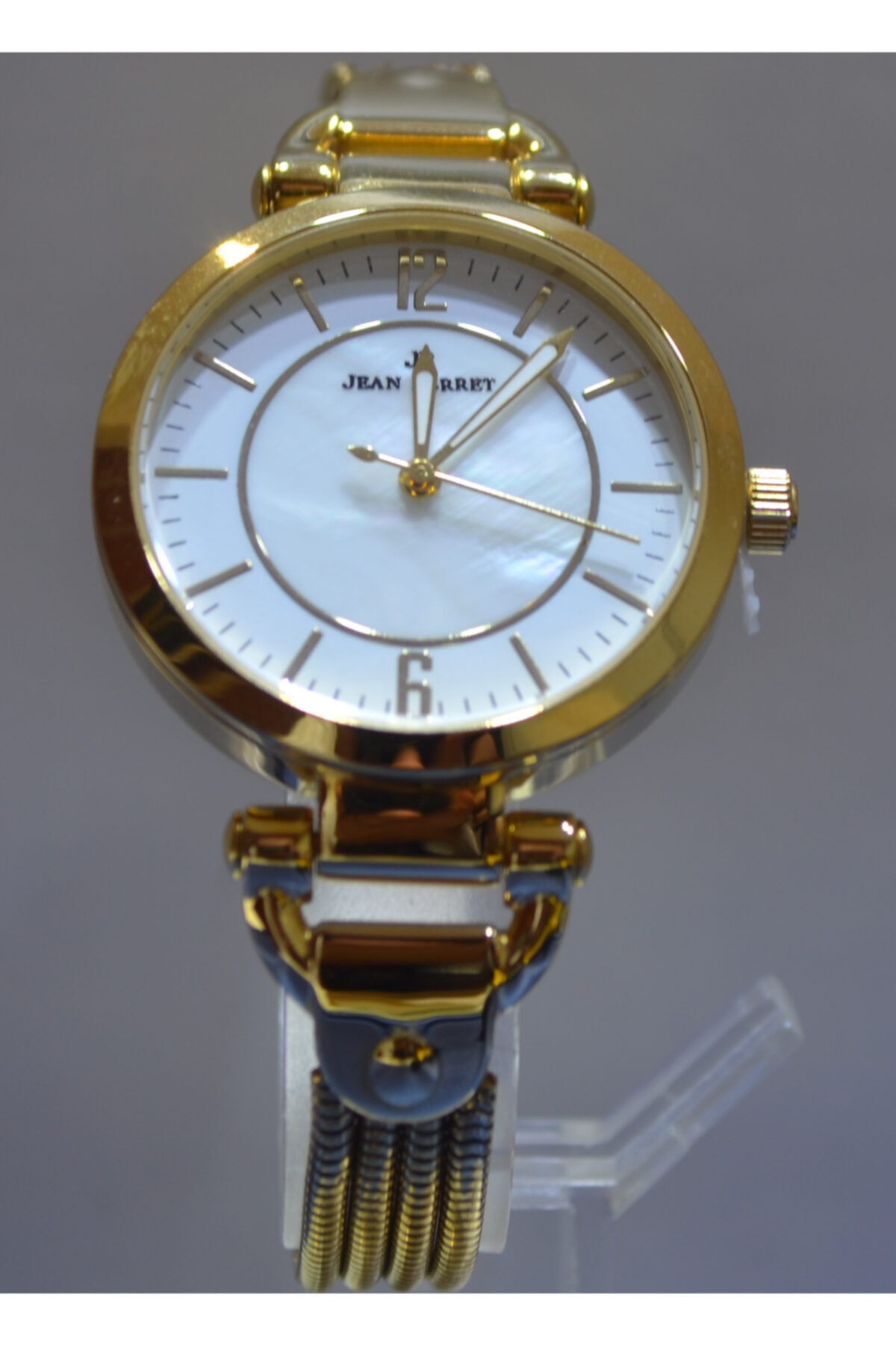 JEAN PERRET Sarı Hasır Kadın Kol Saati 2 Yıl Garantili 1