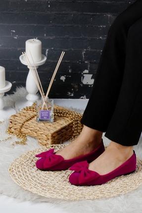 RENKLİBUTİK Fuşya Kadın Ev Babeti Rahat Günlük Ayakkabı