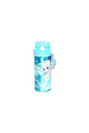 Disney Frozen Mavi Pipetli Metal Matara 97828