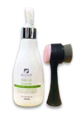 Bioder Acneclean Clarifying Cleansing Gel 180 ml Siyah Cilt Temizleme Fırçası