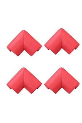 moniev Köşe Koruyucu Kırmızı, U Tipi Kauçuk Köpük 4'lü Köşe Koruyucu
