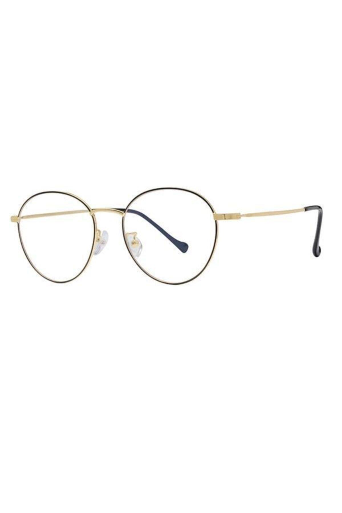 Vintage Mavi Işık Engelleme Gözlük Anti Gözlük Bilgisayar Okuma Gözlükleri Uv400 Şeffaf Lens Siyah Çerçeve 1