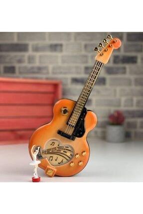 MOBGİFT Balerinli Kapaklı Gitar Müzik Kutusu