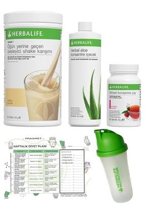 Herbalife 4'lü Set Vanilya Shake Ahududu Aroma Çay Aloe Vera Shaker Ve Diyet Listesi