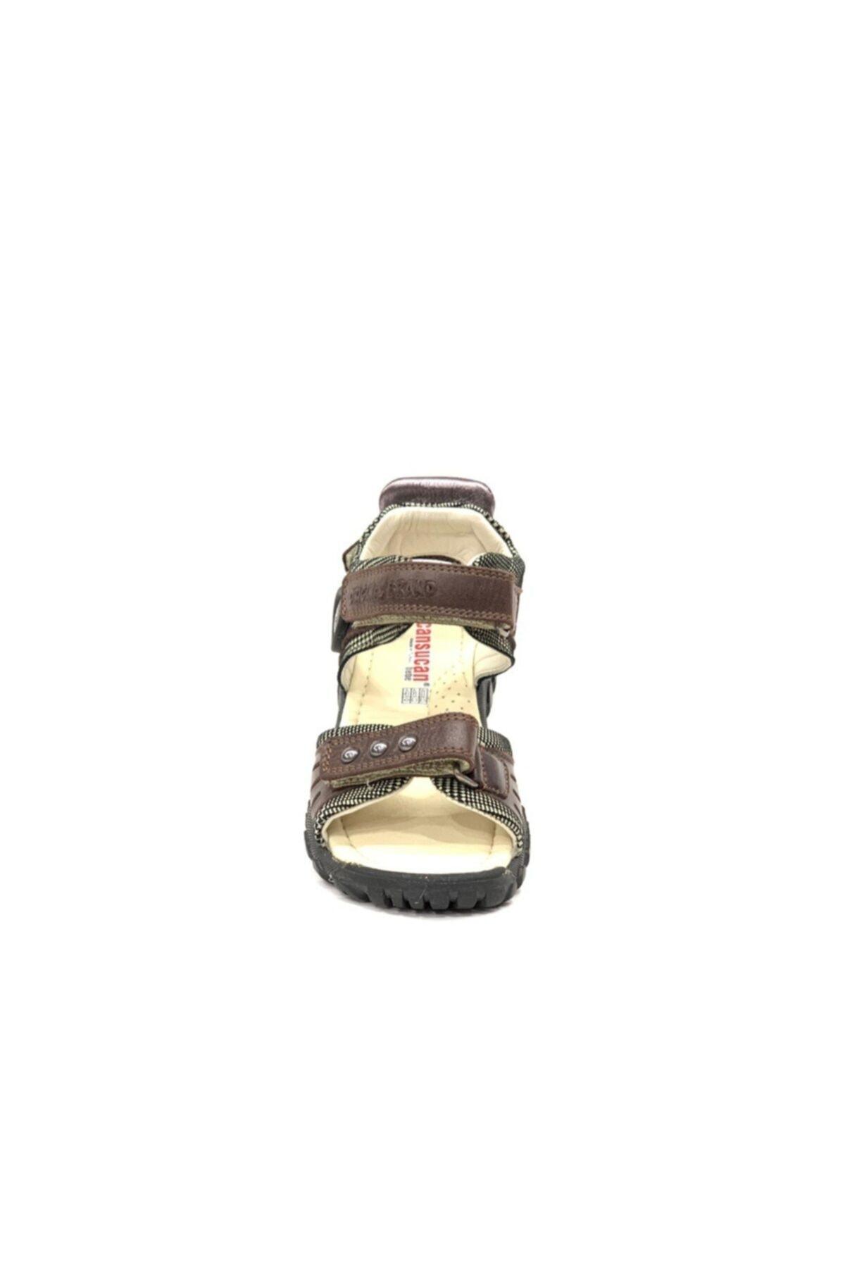 Tuğba Ortopedi Erkek Çocuk Kahverengi Hakiki Deri Sandalet 2370 2