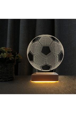 Vipyol Unisex Futbol Topu 3d Led Lamba Çocuk Odası Gece Lambası