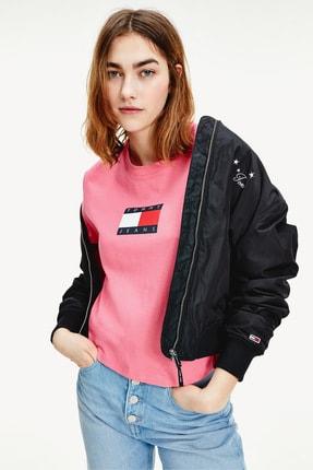 Tommy Hilfiger Kadın Pembe T-Shirt Tjw Tommy Flag Tee DW0DW08471