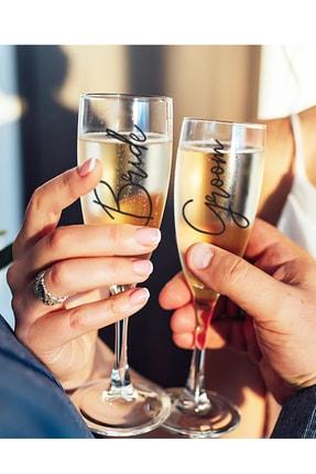 PEKSHOP 2li Gelin Damat Şampanya Kadehi