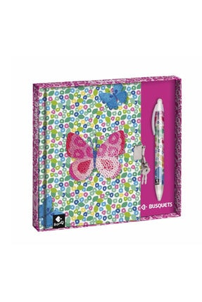 Busquets Butterfly Kilitli Günlük Ve Tükenmez Kalem 51617093900