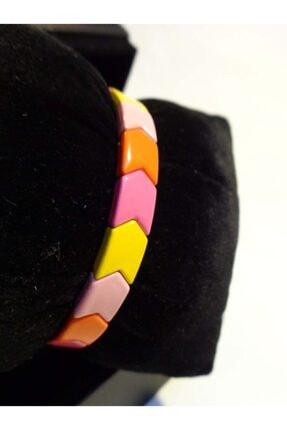 Accessories Pembe Turuncu Sarı Döngü Bileklik