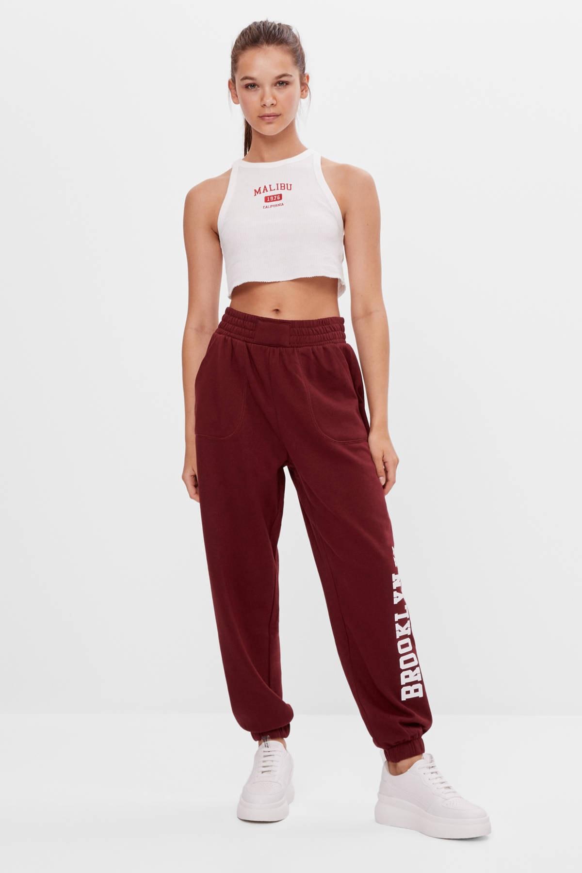 Bershka Kadın Desenli Jogger Pantolon 1