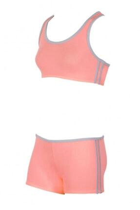 Kom Kız Çocuk Somon Sporcu Bikini