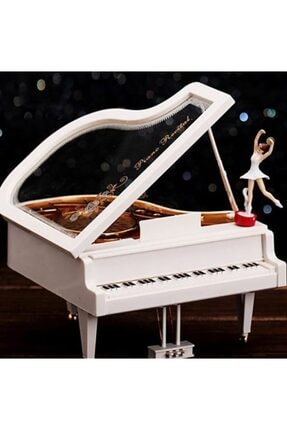 MOBGİFT Balerinli Klasik Piyano Müzik Kutusu