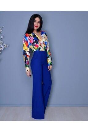 Moda Avcilari by Gülcan Kadın Saks Mavi  Pantolon