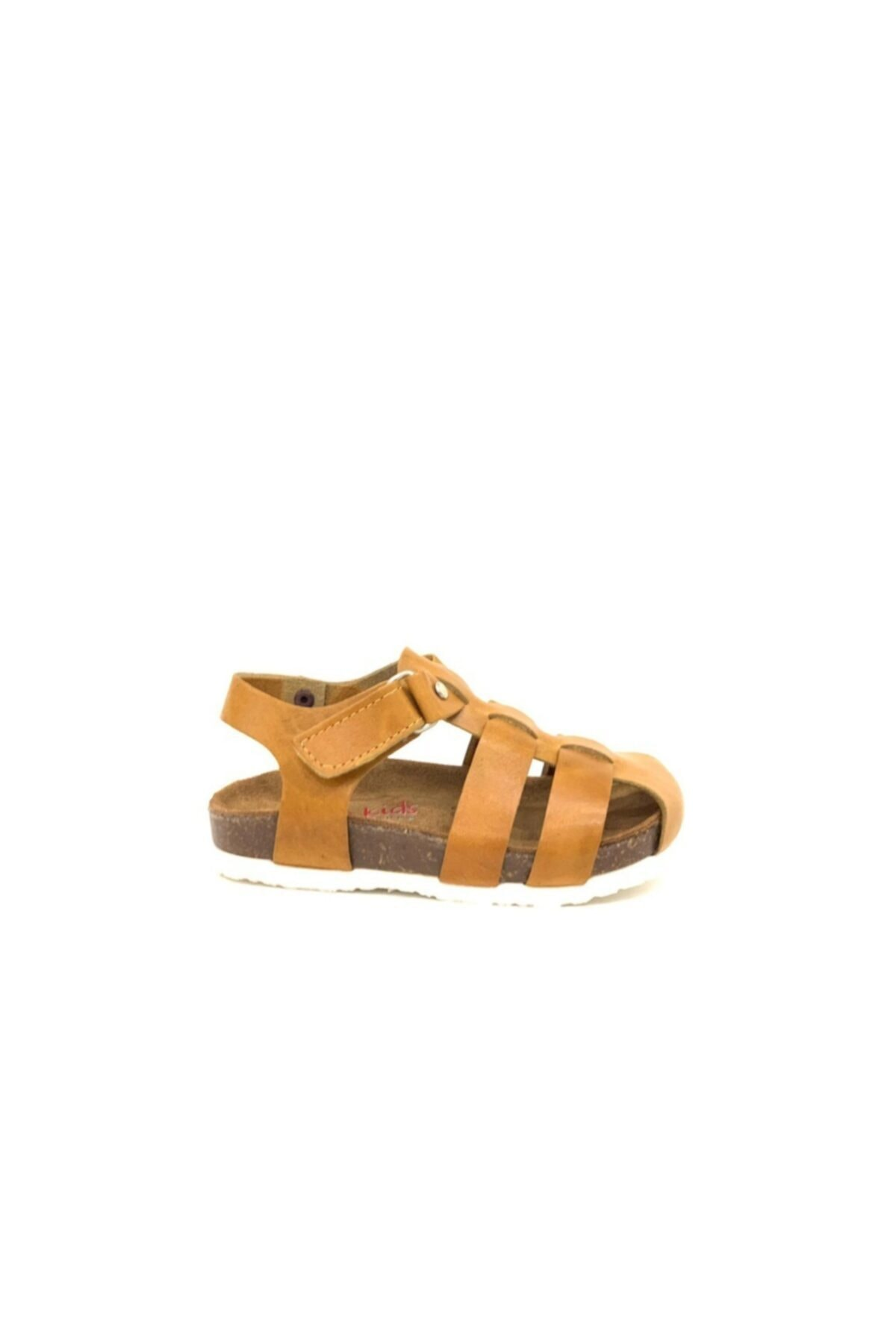 Tuğba Ortopedi Erkek Çocuk  Kahverengi Hakiki Deri Sandalet 1