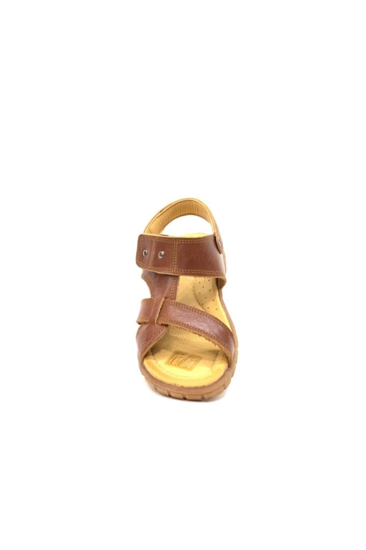 Toddler Erkek Çocuk Kahverengi Hakiki Deri Sandalet 2356 2