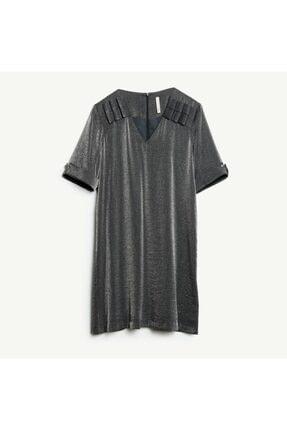 Yargıcı Kadın Lacivert V Yakalı Elbise
