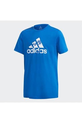 adidas Unisex Çocuk Mavi Kısa Kollu Tshirt