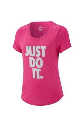Nike Kız Çocuk Pembe Yazılı Spor T-Shirt  Ar5087-686