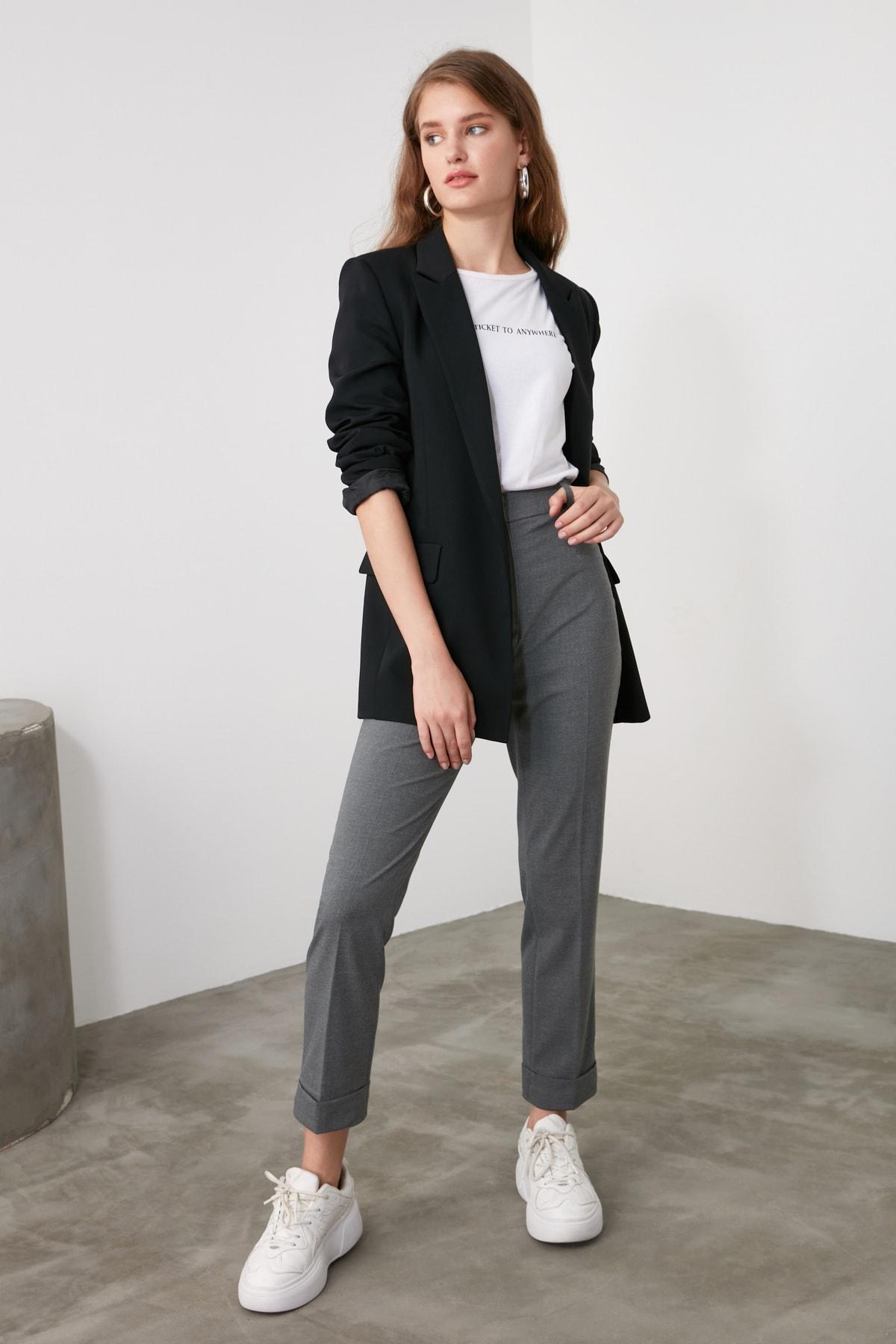 TRENDYOLMİLLA Antrasit Basic Pantolon TWOAW21PL0295 1