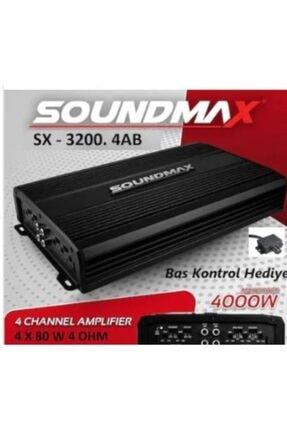 Soundmax Anfi 4000w Sx-3200.4ab 4 Kanal 4x80 Bas Kumandalı