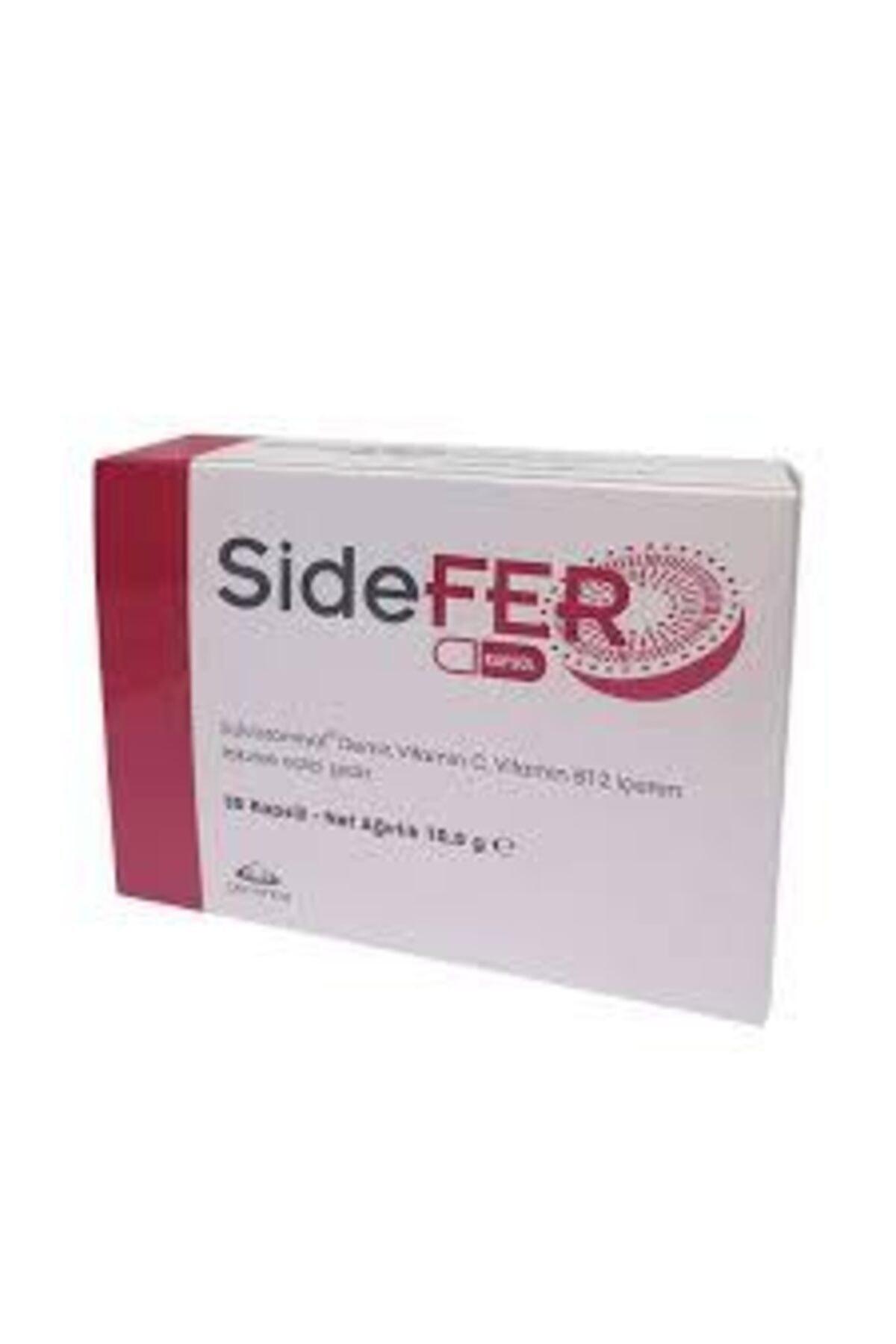 Sidefer Sukrozomiyal Demir Vitamin C Vitamin B12 30 Kapsül Takviye 1