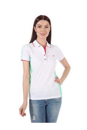 Giorgio Di Mare Kadın Beyaz Kısa Kollu Polo T-shirt