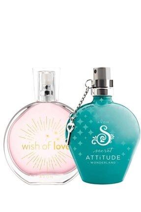 AVON Wish Of Love Ve Secret Attitude Wonderland Edt 50 ml Kadın Parfüm Paketi 5055550006199