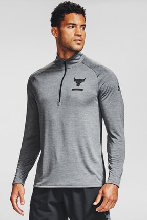 Under Armour Erkek Spor T-Shirt - Ua Pjt Rock Tech 1/2 Zip - 1345822-012