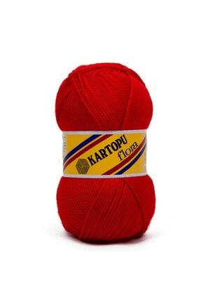 Kartopu Örgü İpi Kırmızı Flora K 150 gr